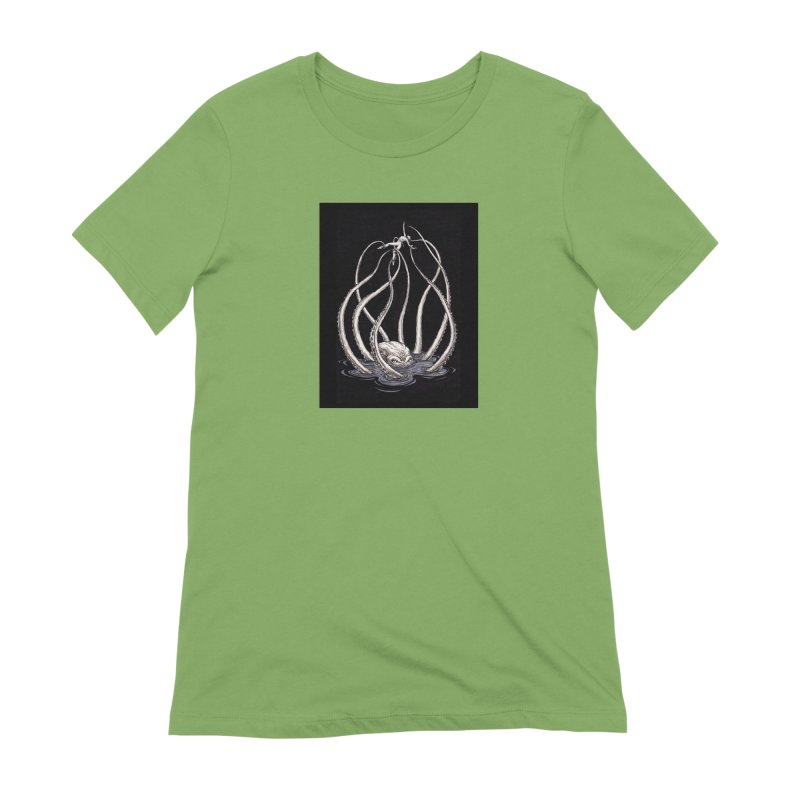 Tentacle Peril Women's Extra Soft T-Shirt by Natalie McKean