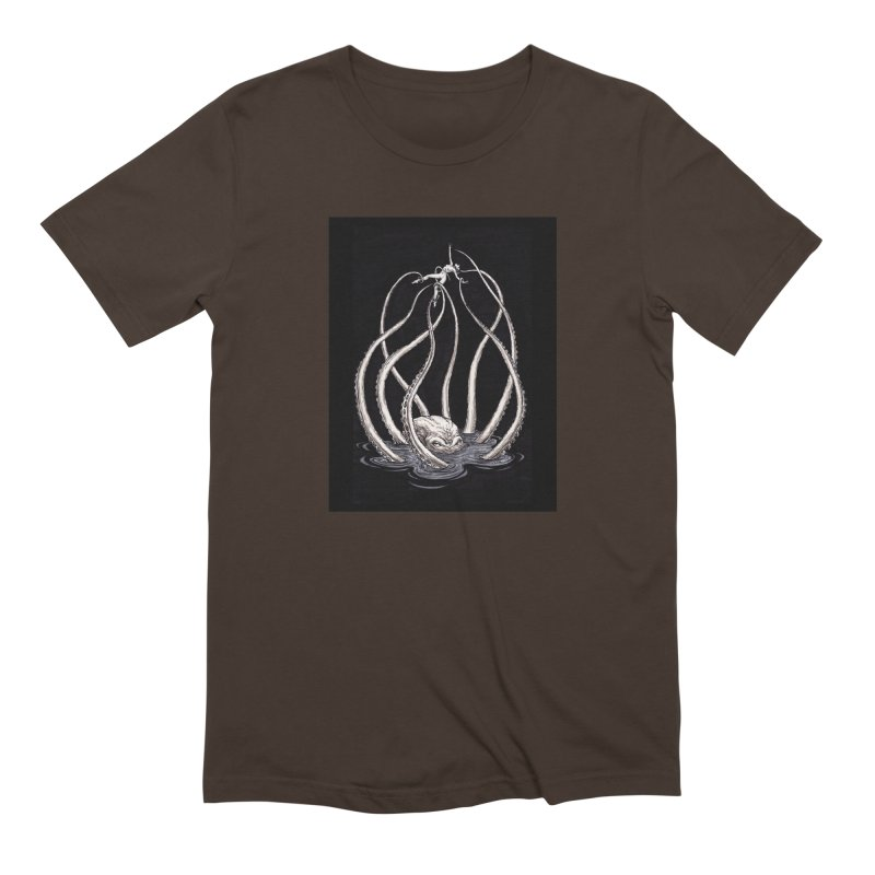 Tentacle Peril Men's Extra Soft T-Shirt by Natalie McKean
