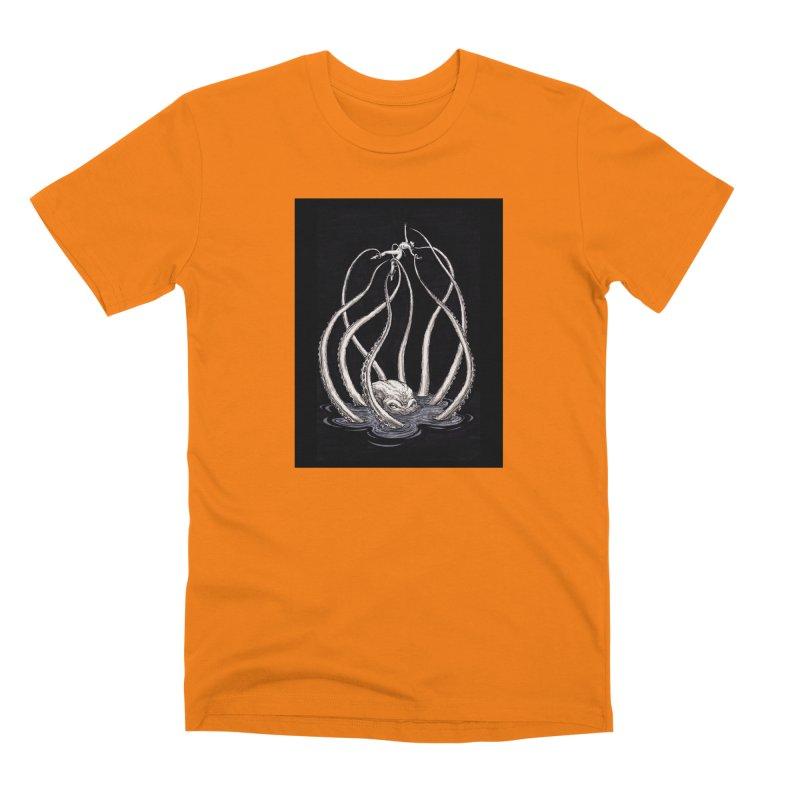 Tentacle Peril Men's Premium T-Shirt by Natalie McKean