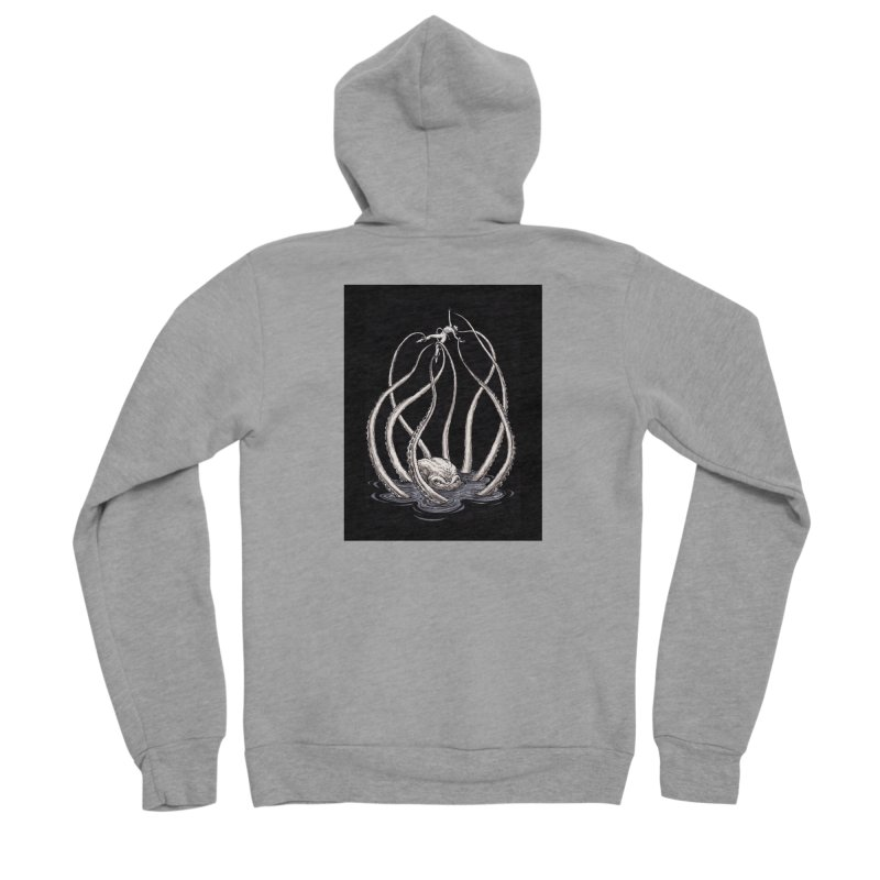 Tentacle Peril Men's Sponge Fleece Zip-Up Hoody by Natalie McKean