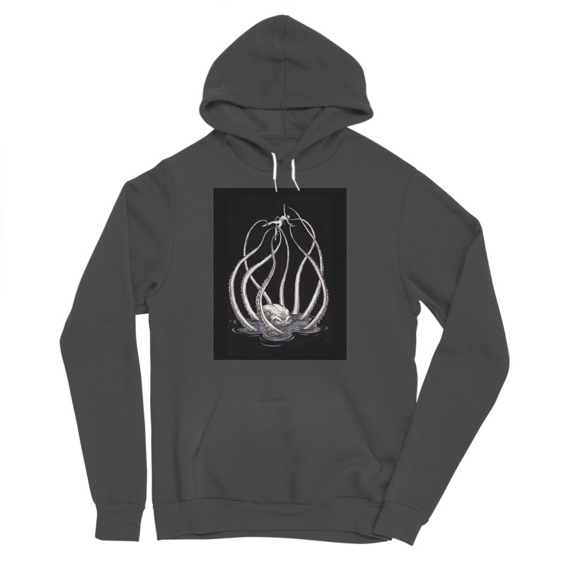 Tentacle Peril Women's Sponge Fleece Pullover Hoody by Natalie McKean