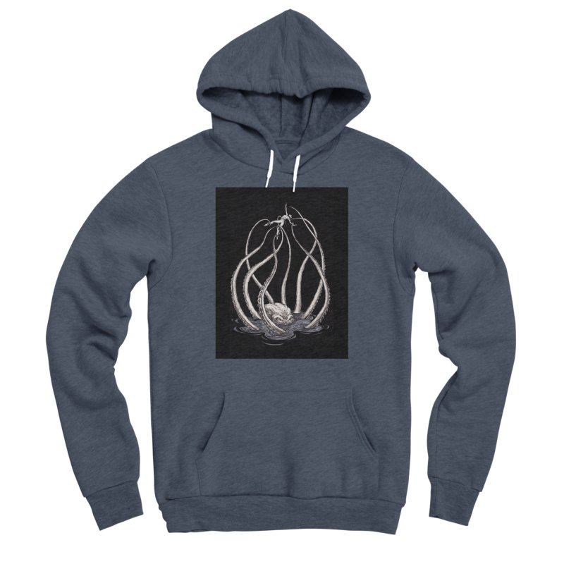 Tentacle Peril Men's Sponge Fleece Pullover Hoody by Natalie McKean