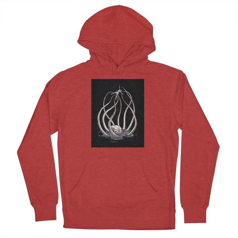 Tentacle Peril Women's French Terry Pullover Hoody by Natalie McKean