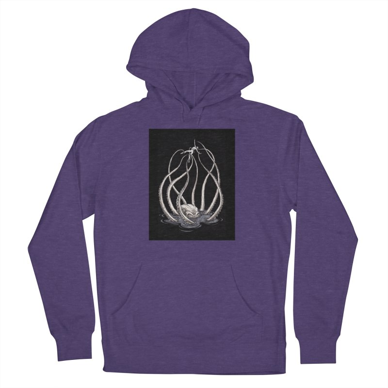Tentacle Peril Men's French Terry Pullover Hoody by Natalie McKean