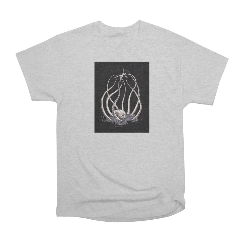 Tentacle Peril Women's Heavyweight Unisex T-Shirt by Natalie McKean