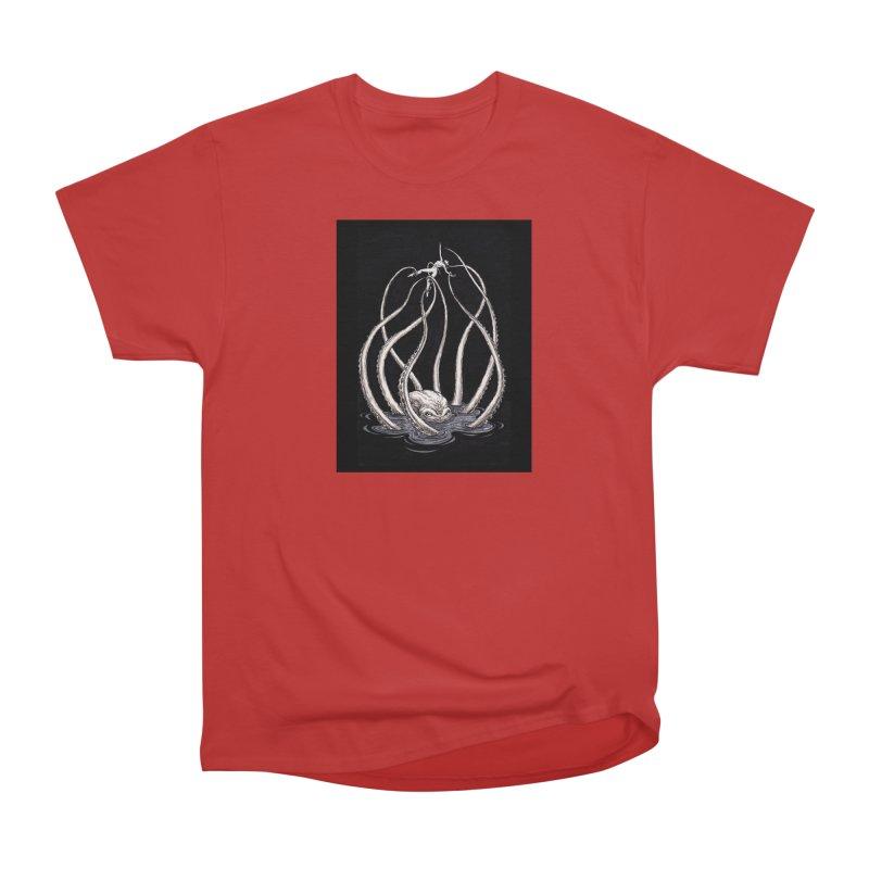 Tentacle Peril Men's Heavyweight T-Shirt by Natalie McKean