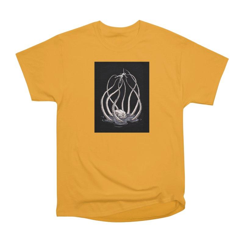 Tentacle Peril Women's Heavyweight Unisex T-Shirt by Natalie McKean