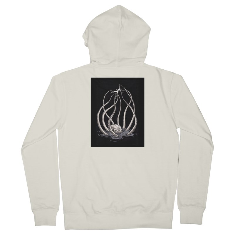 Tentacle Peril Men's French Terry Zip-Up Hoody by Natalie McKean