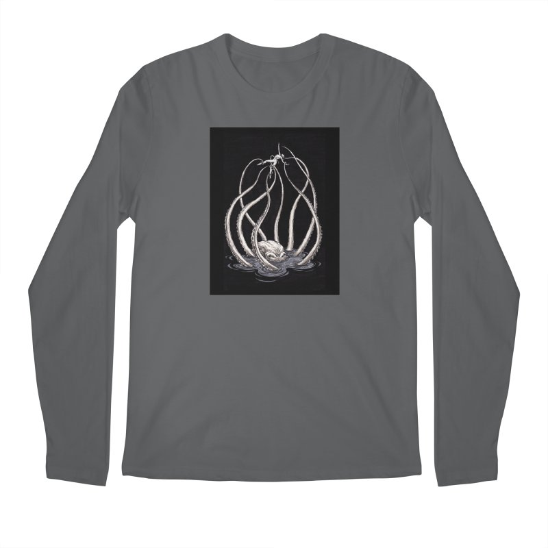 Tentacle Peril Men's Regular Longsleeve T-Shirt by Natalie McKean