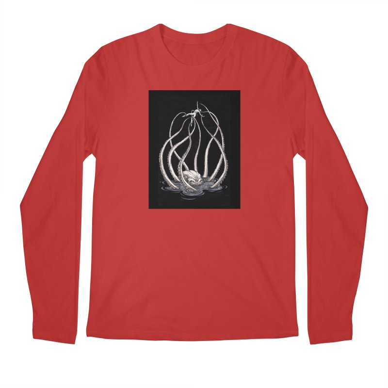 Tentacle Peril Men's Regular Longsleeve T-Shirt by Natalie McKean