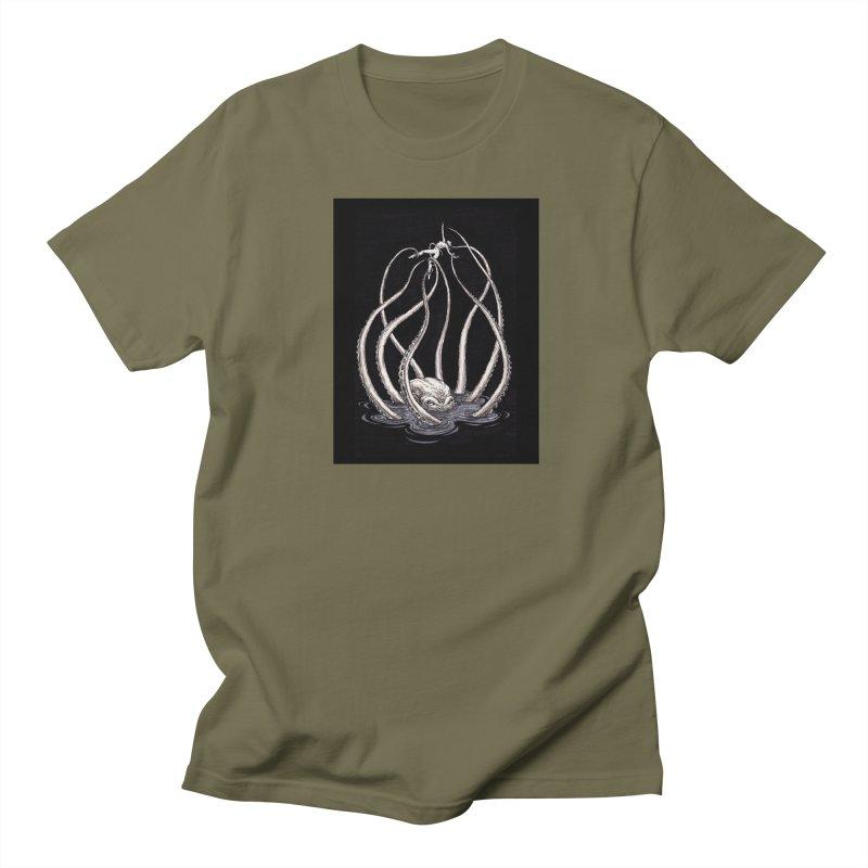 Tentacle Peril Men's Regular T-Shirt by Natalie McKean