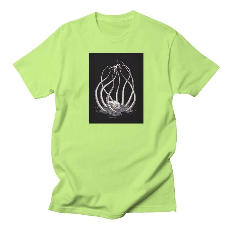 Tentacle Peril Men's Regular T-Shirt by Natalie McKean
