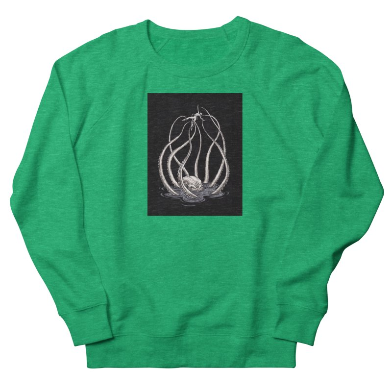 Tentacle Peril Men's French Terry Sweatshirt by Natalie McKean