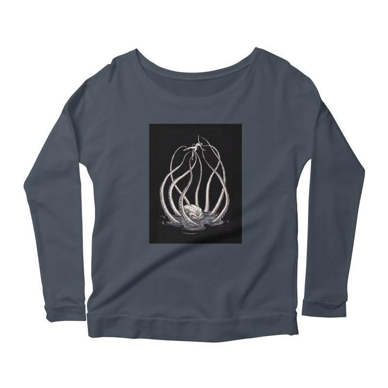 Tentacle Peril Women's Scoop Neck Longsleeve T-Shirt by Natalie McKean