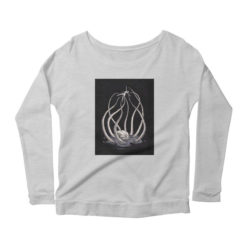 Tentacle Peril Women's Scoop Neck Longsleeve T-Shirt by Natalie McKean
