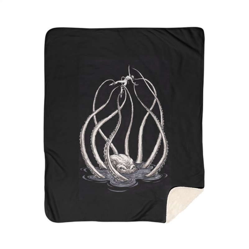Tentacle Peril Home Sherpa Blanket Blanket by Natalie McKean