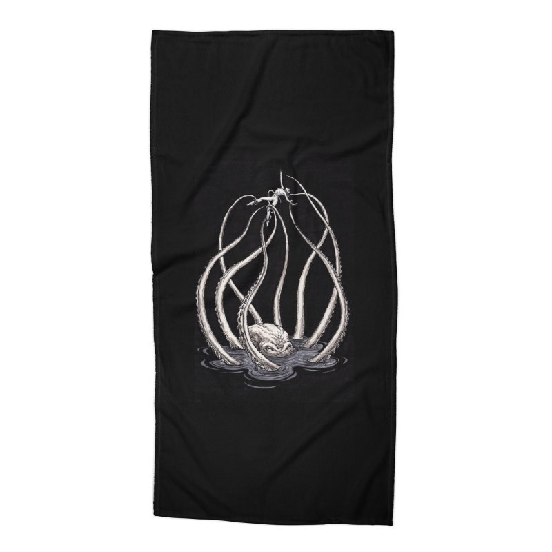 Tentacle Peril Accessories Beach Towel by Natalie McKean