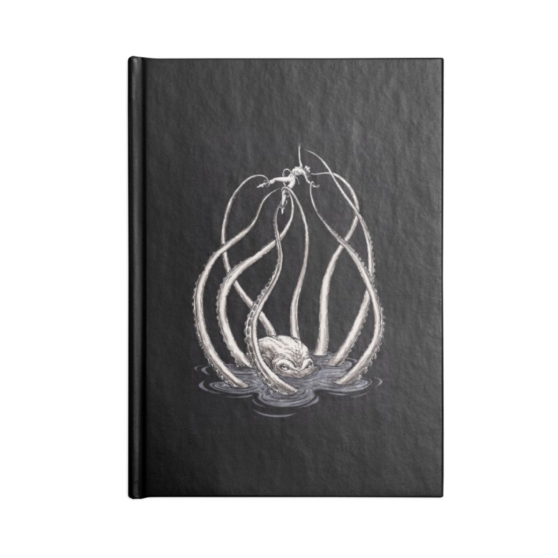 Tentacle Peril Accessories Lined Journal Notebook by Natalie McKean