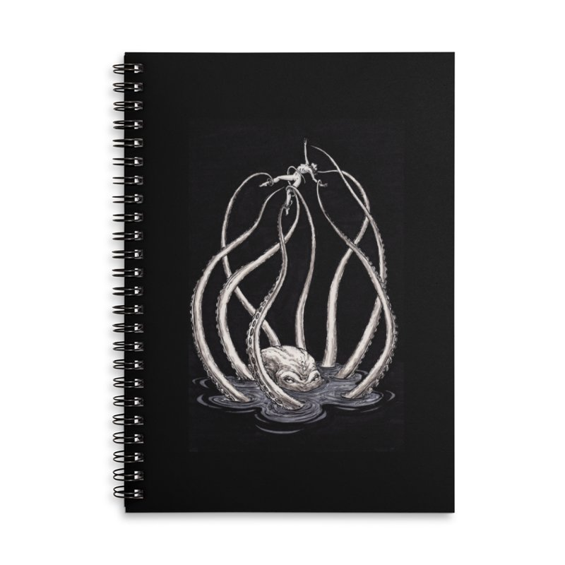 Tentacle Peril Accessories Lined Spiral Notebook by Natalie McKean