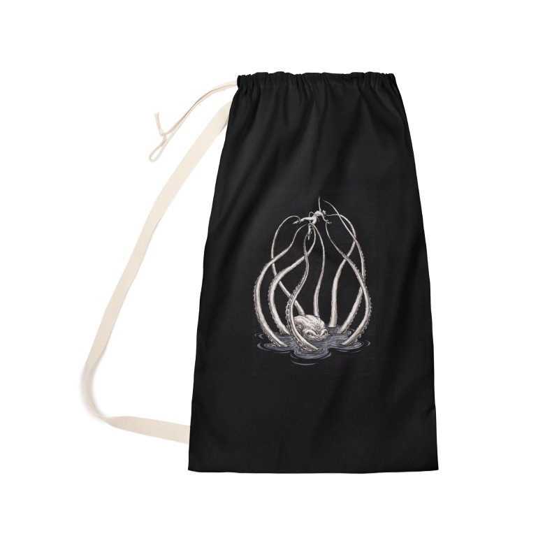 Tentacle Peril Accessories Laundry Bag Bag by Natalie McKean