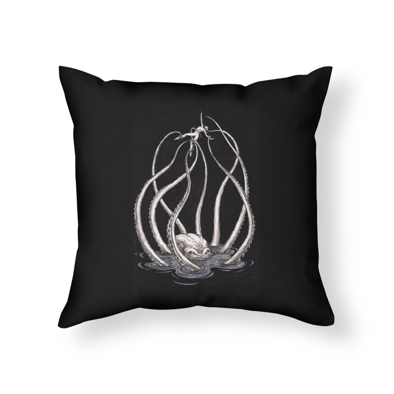 Tentacle Peril Home Throw Pillow by Natalie McKean