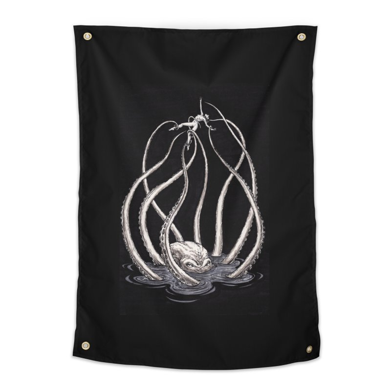 Tentacle Peril Home Tapestry by Natalie McKean