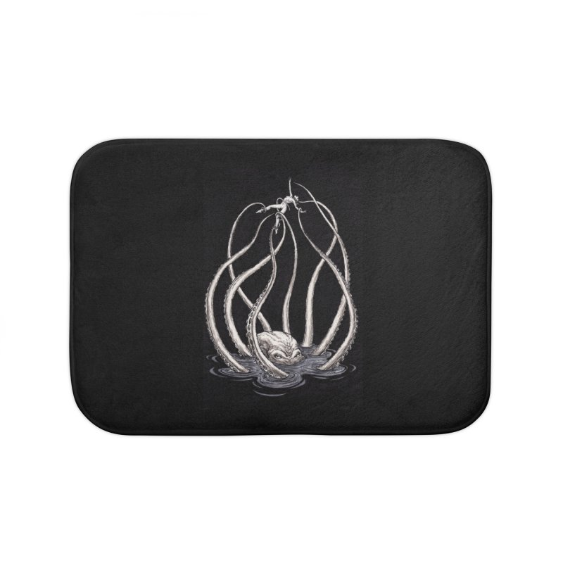 Tentacle Peril Home Bath Mat by Natalie McKean