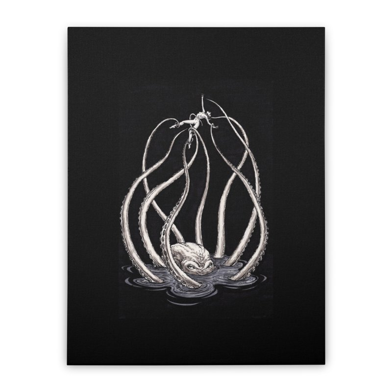 Tentacle Peril Home Stretched Canvas by Natalie McKean