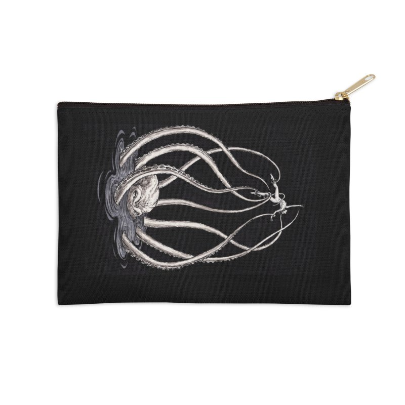 Tentacle Peril Accessories Zip Pouch by Natalie McKean
