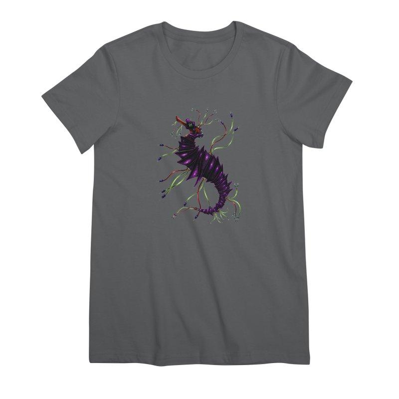 Wirey Sea Dragon Women's T-Shirt by Natalie McKean