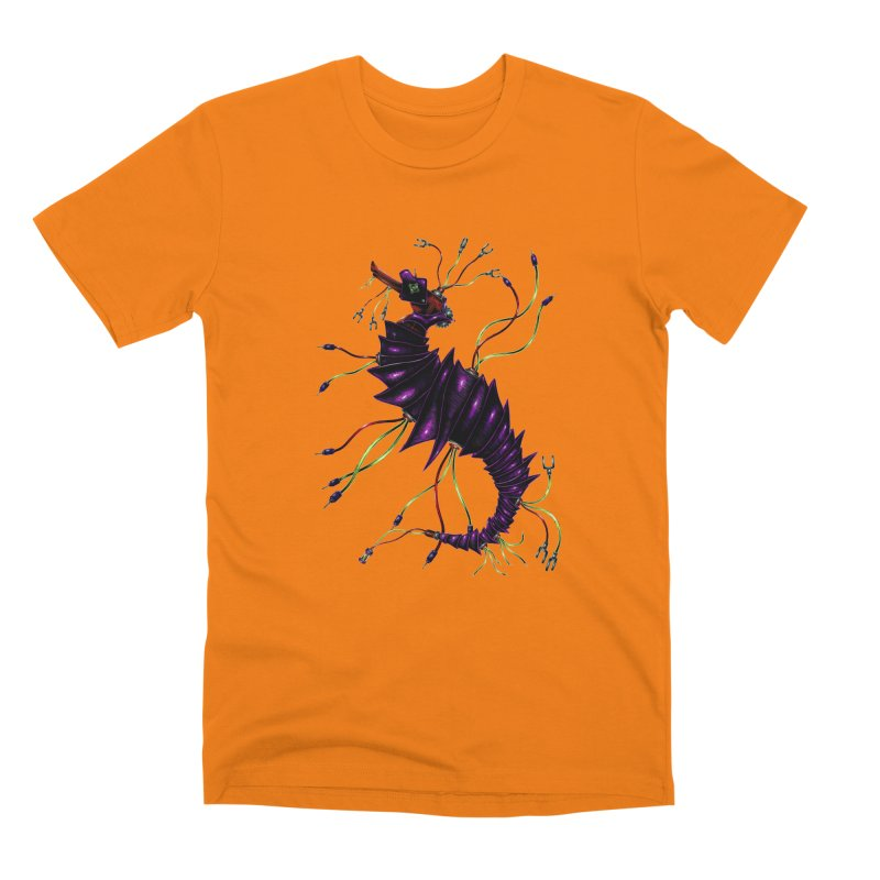 Wirey Sea Dragon Men's T-Shirt by Natalie McKean