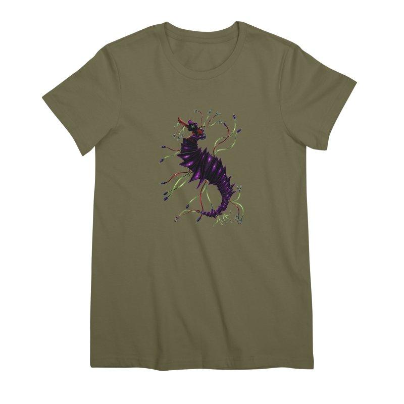 Wirey Sea Dragon Women's Premium T-Shirt by Natalie McKean