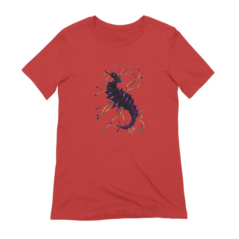 Wirey Sea Dragon Women's Extra Soft T-Shirt by Natalie McKean