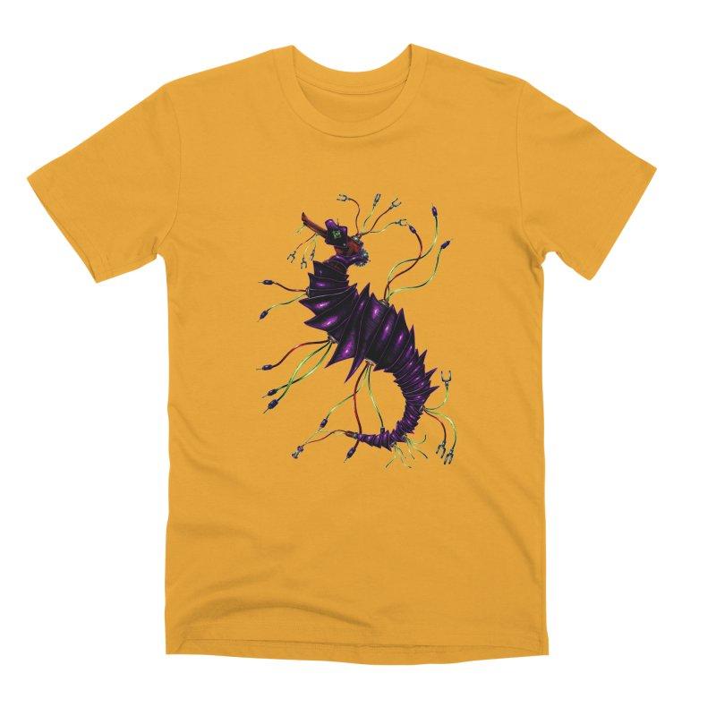 Wirey Sea Dragon Men's Premium T-Shirt by Natalie McKean