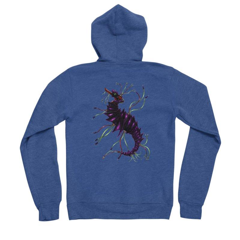 Wirey Sea Dragon Men's Sponge Fleece Zip-Up Hoody by Natalie McKean