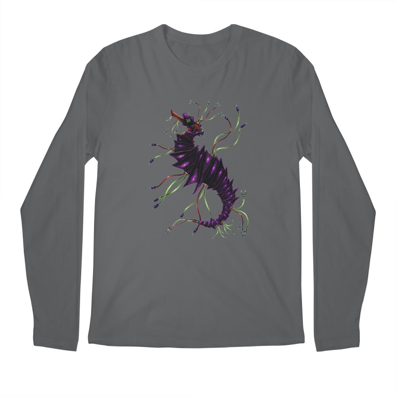 Wirey Sea Dragon Men's Longsleeve T-Shirt by Natalie McKean