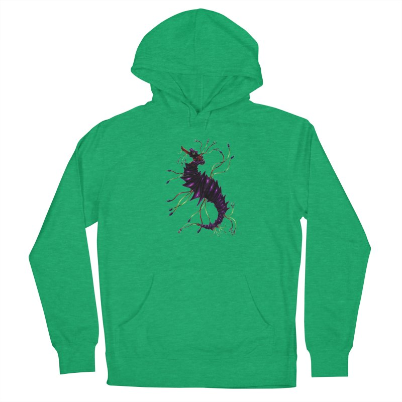 Wirey Sea Dragon Women's Pullover Hoody by Natalie McKean