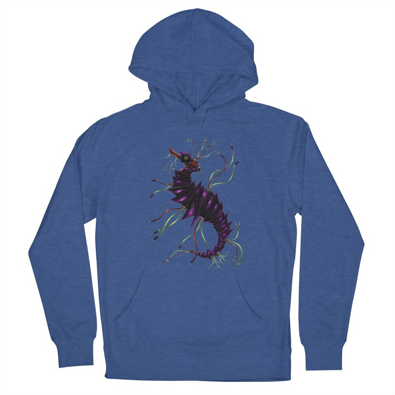 Wirey Sea Dragon Women's French Terry Pullover Hoody by Natalie McKean