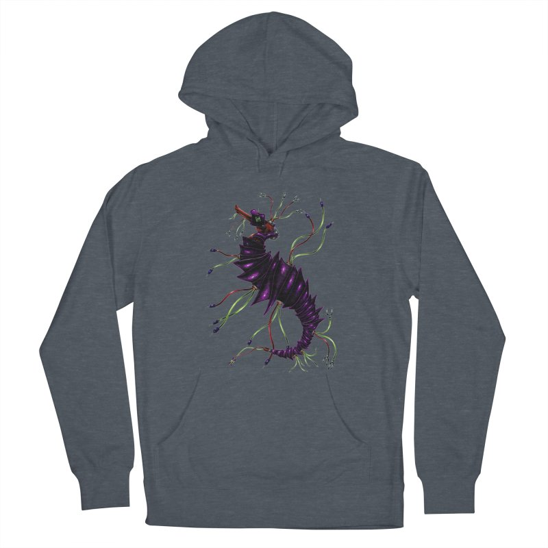 Wirey Sea Dragon Men's French Terry Pullover Hoody by Natalie McKean