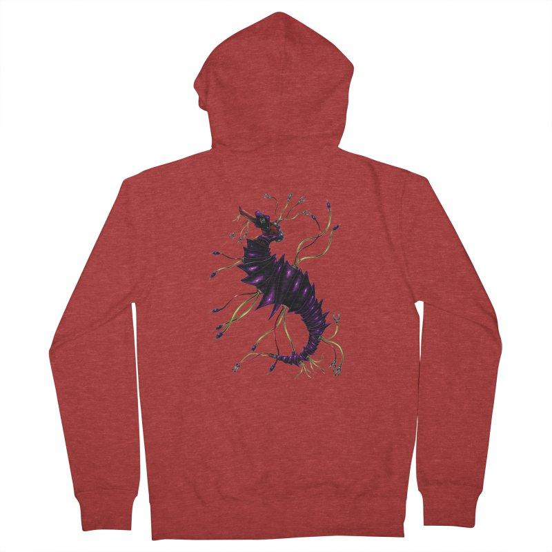 Wirey Sea Dragon Men's Zip-Up Hoody by Natalie McKean