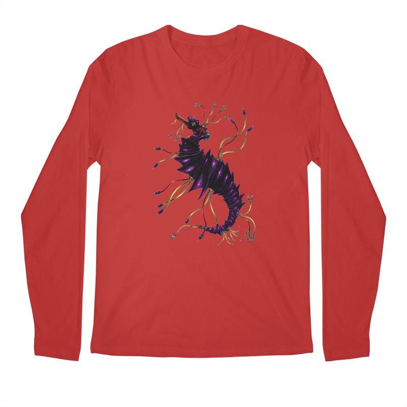 Wirey Sea Dragon Men's Regular Longsleeve T-Shirt by Natalie McKean