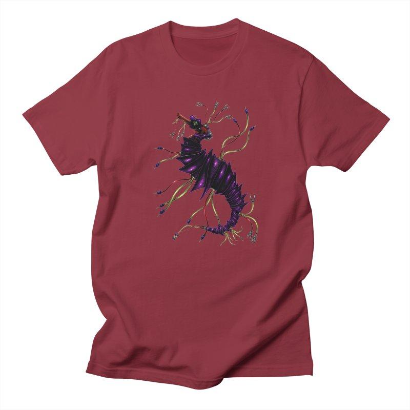 Wirey Sea Dragon Men's Regular T-Shirt by Natalie McKean