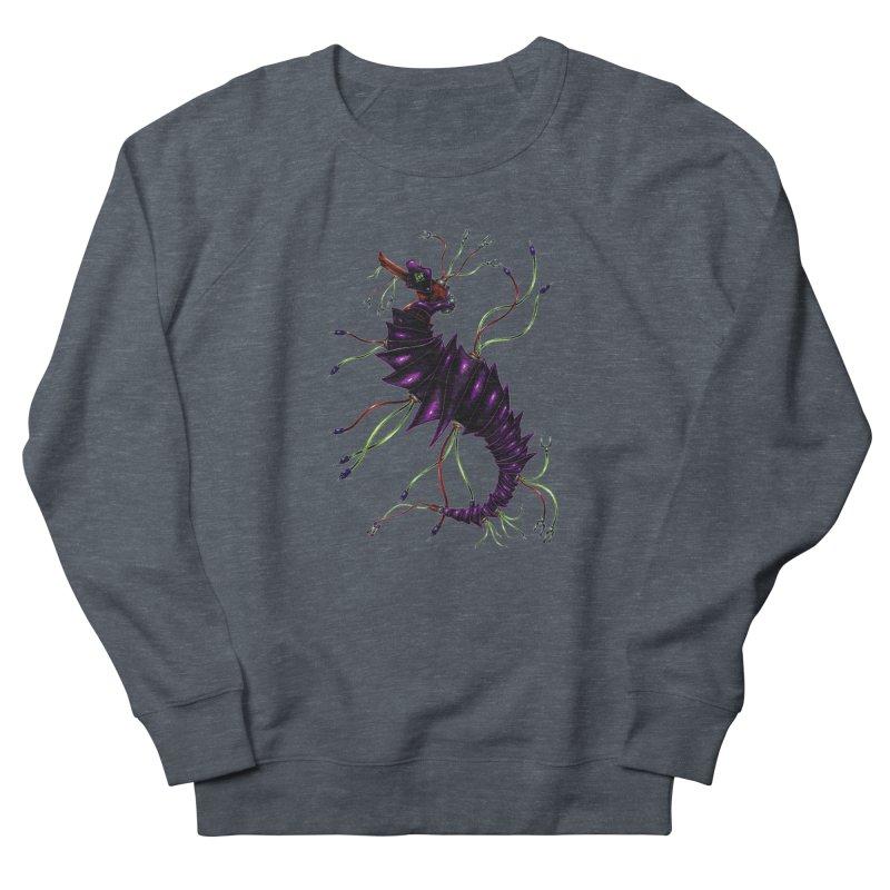 Wirey Sea Dragon Women's French Terry Sweatshirt by Natalie McKean