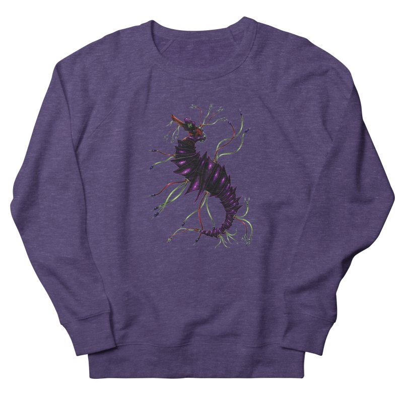 Wirey Sea Dragon Men's French Terry Sweatshirt by Natalie McKean