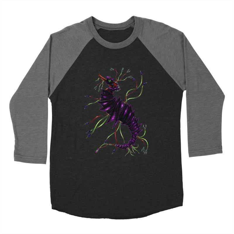 Wirey Sea Dragon Men's Baseball Triblend Longsleeve T-Shirt by Natalie McKean
