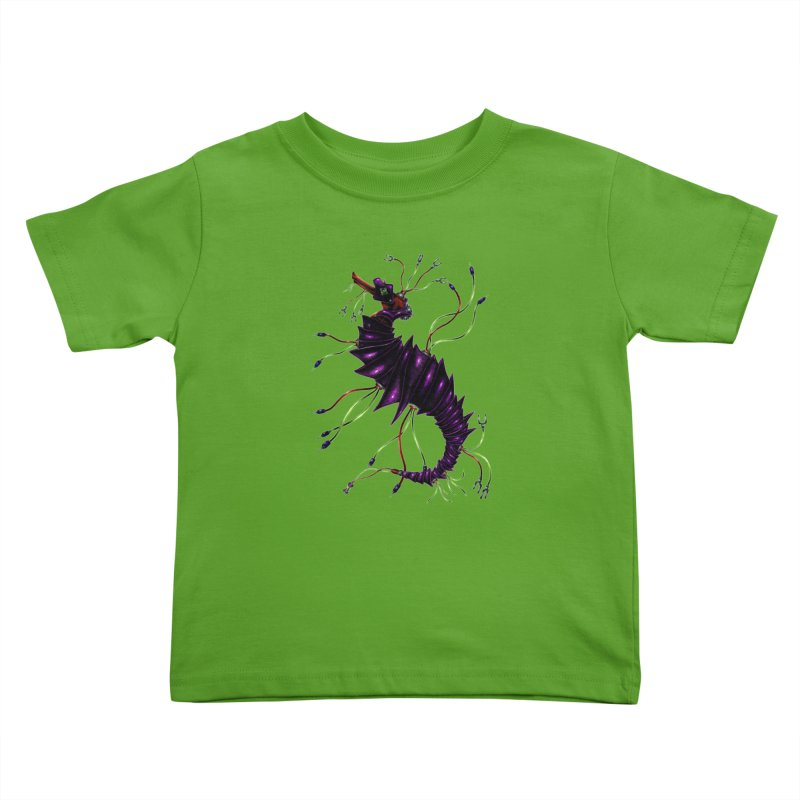 Wirey Sea Dragon Kids Toddler T-Shirt by Natalie McKean