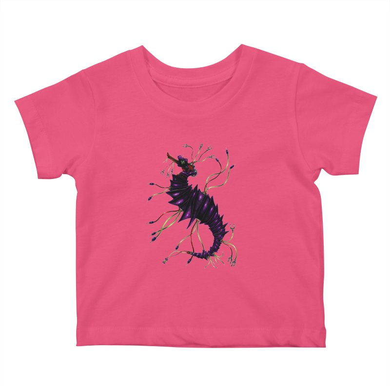 Wirey Sea Dragon Kids Baby T-Shirt by Natalie McKean