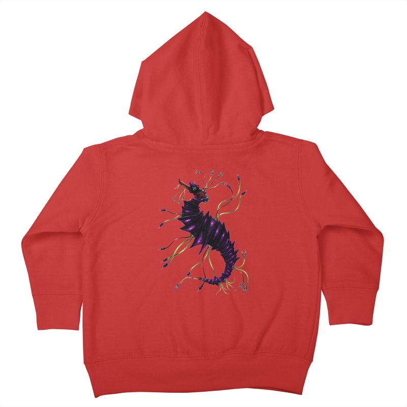 Wirey Sea Dragon Kids Toddler Zip-Up Hoody by Natalie McKean
