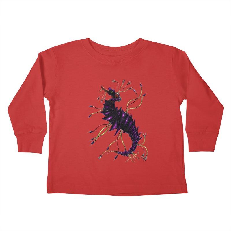 Wirey Sea Dragon Kids Toddler Longsleeve T-Shirt by Natalie McKean