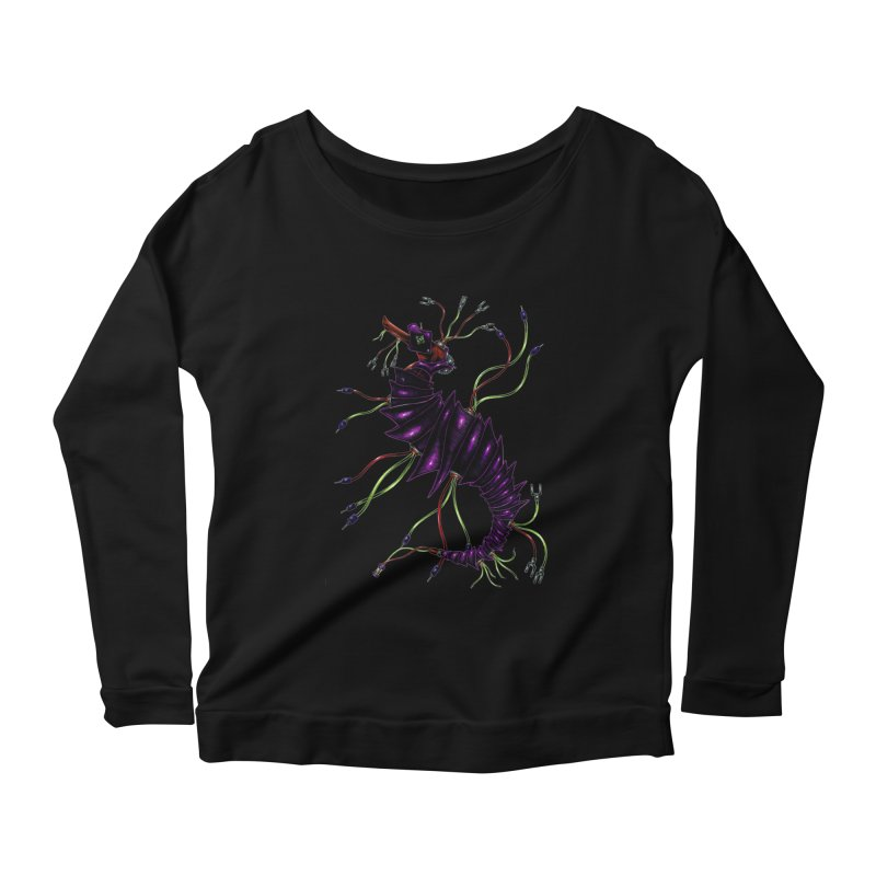 Wirey Sea Dragon Women's Scoop Neck Longsleeve T-Shirt by Natalie McKean